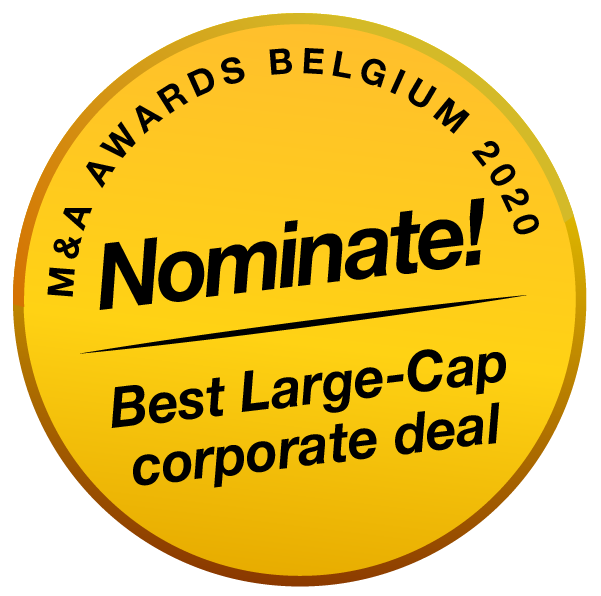 BE MenA Awards 2020 buttons nominate Best Large Cap Corporate Deal