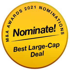 BE MenA Awards 2021 Buttons Nominate Best Large-Cap Deal